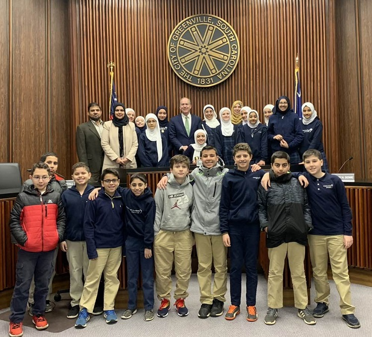Beta Club Meets Mayor Knox White